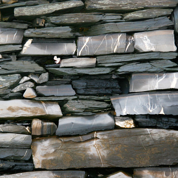 Detail of slate wall