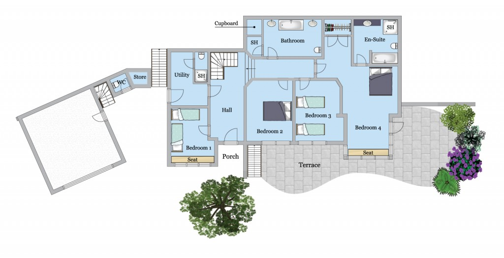 Tomhara Ground Floor plan